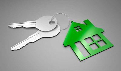 Symbole Haus und Schlüssel