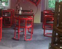 gereinigter Teppich im Café Münchner Freiheit