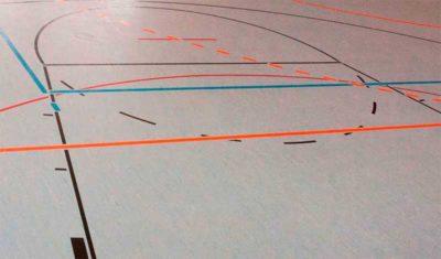 Boden einer Sporthalle