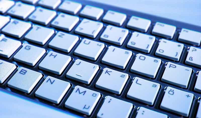 Nahaufnahme einer PC-Tastatur